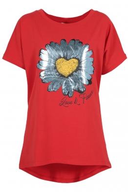Дамска тениска SILVER DAISY червена