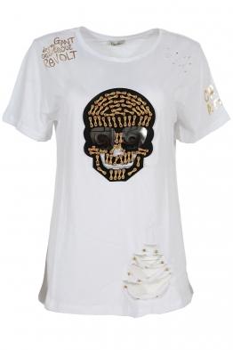 Дамска тениска SKU-01 бяла