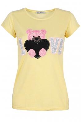 Дамска тениска SUMMER LOVE жълта
