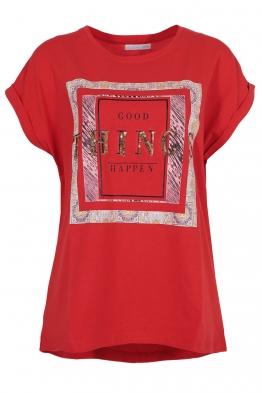 Дамска тениска THINGS червена
