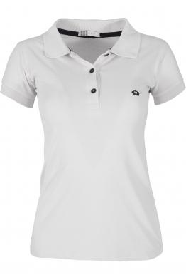 Дамска тениска МОР с якичка  бяла