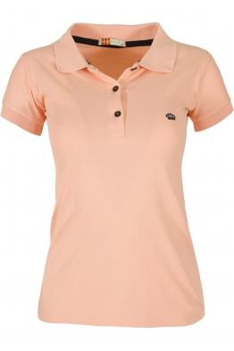 Дамска тениска МОР с якичка  пудра