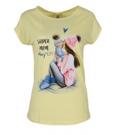 Дамска блуза SUPER MOM жълта