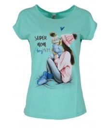 Дамска блуза SUPER MOM мента