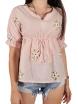Дамска блуза 6628 пудра
