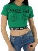 Къса тениска PICK ME зелена