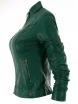 Дамско кожено яке 2117 зелено