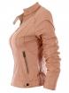 Дамско кожено яке 2117 розово
