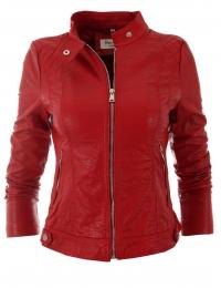 Дамско кожено яке 2117 червено