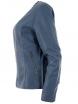 Дамско макси кожено яке AF-237-30S синьо