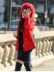 Дамско палто 18132-8 червено