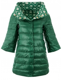 Дамско яке с две лица 18012 зелено