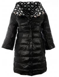 Дамско яке с две лица 18012 черно
