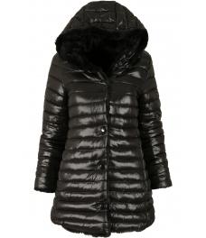 Дамско зимно яке с две лица 18100 черен
