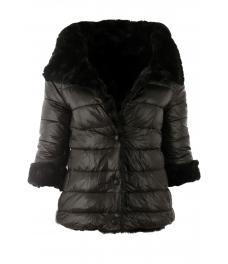 e353405967e Дамско зимно яке с две лица Е26527 черно