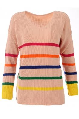 Дамски пуловер  150 на райета