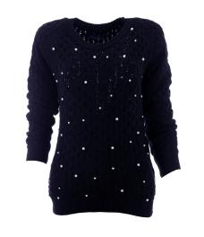 Дамски пуловер Арчи А-2 тъмно син