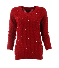 Дамски пуловер Арчи А-2 червен