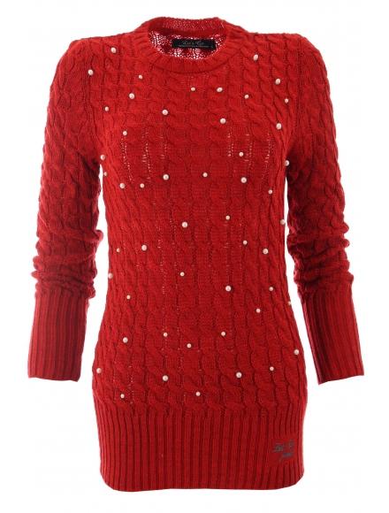 Дамски пуловер Арчи А-1 червен