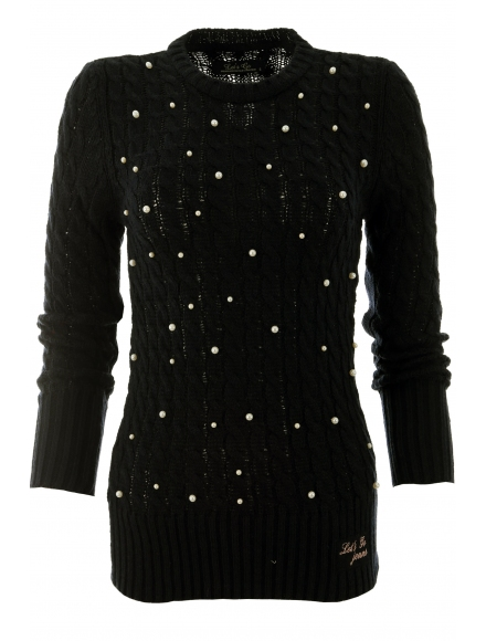 Дамски пуловер Арчи А-1 черен