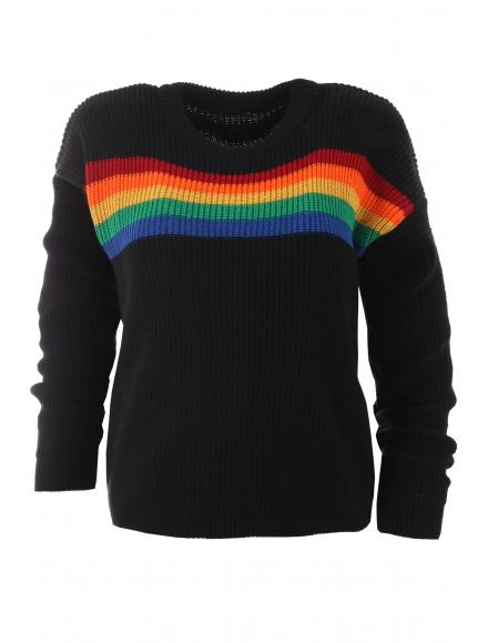 Дамски пуловер МАЙН черен