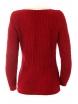 Дамски пуловер с яка Вижън червен