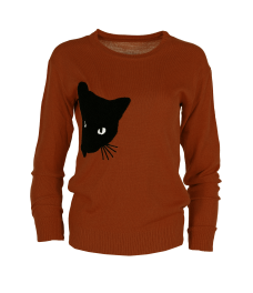 Дамски пуловер  BLACK CAT брик