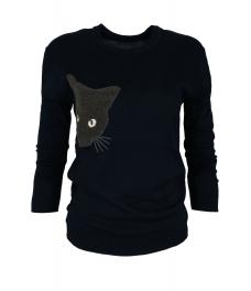 Дамски пуловер  BLACK CAT тъмно син