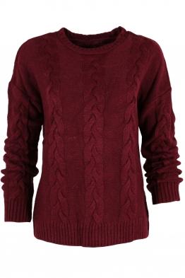 Дамски пуловер Лиза бордо