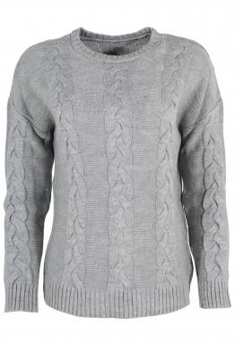 Дамски пуловер Лиза сив