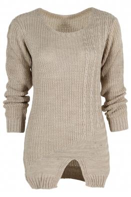 Дамски пуловер Фрея бежов