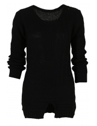 Дамски пуловер Фрея черен