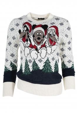Дамски пуловер Christmas А-10 екрю