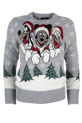 Дамски пуловер Christmas А-10 сив