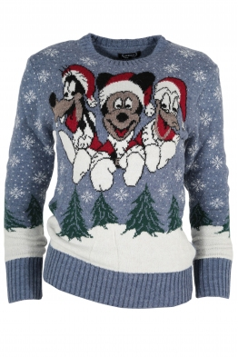 Дамски пуловер Christmas А-10 син