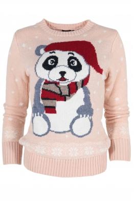Дамски пуловер Christmas А-14 розов