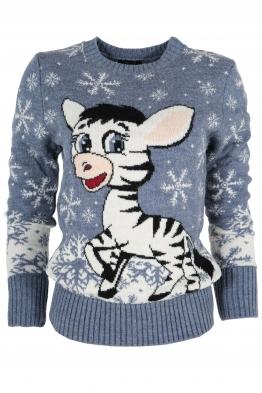 Дамски пуловер Christmas А-6 син