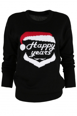 Дамски пуловер Happy Years черен