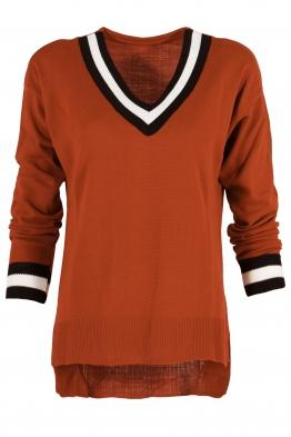 Пуловер 513 брик