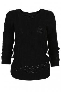Дамски пуловер MISSION черен