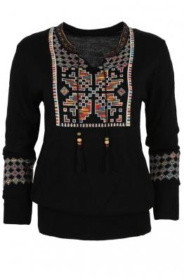 Дамски пуловер 405-8 черен