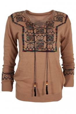 Дамски пуловер 407-8 капучино