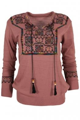 Дамски пуловер 407-8 пепел от рози