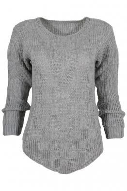 Дамски пуловер ANTONELLA сив