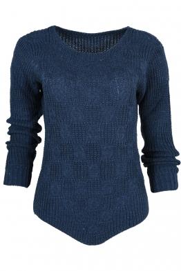 Дамски пуловер ANTONELLA син