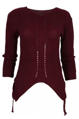 Дамски пуловер MEI бордо