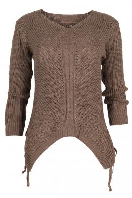 Дамски пуловер MEI капучино