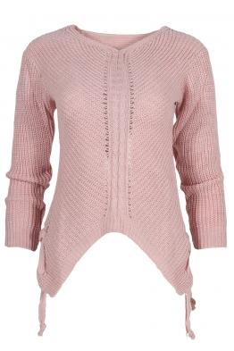 Дамски пуловер MEI розов