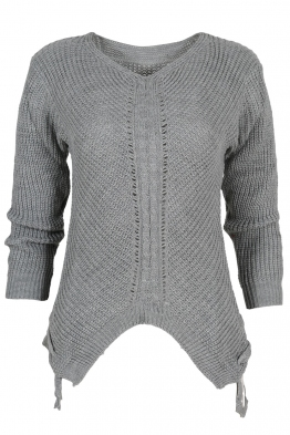 Дамски пуловер MEI сив