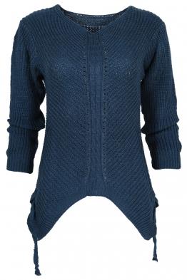 Дамски пуловер MEI син